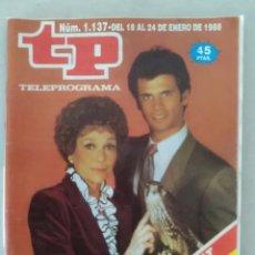 Coleccionismo de Revista Teleprograma: REVISTA TP N° 1137 1988. TELEPROGRAMA. Lote 159361762