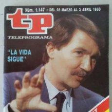 Coleccionismo de Revista Teleprograma: REVISTA TP N° 1147 1988. TELEPROGRAMA. Lote 159361866