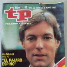 Coleccionismo de Revista Teleprograma: REVISTA TP N° 1156 1988. TELEPROGRAMA. Lote 159362042
