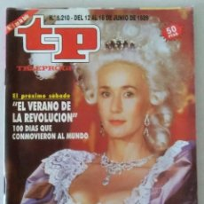 Coleccionismo de Revista Teleprograma: REVISTA TP N° 1210 1989. TELEPROGRAMA. Lote 159362126