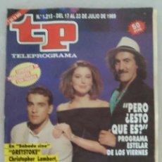 Coleccionismo de Revista Teleprograma: REVISTA TP N° 1215 1989 TELEPROGRAMA. Lote 159378950