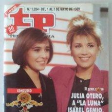 Coleccionismo de Revista Teleprograma: REVISTA TP N° 1204 1989 TELEPROGRAMA. . Lote 159379266