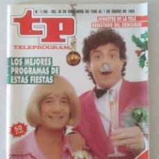 Collectionnisme de Magazine Teleprograma: REVISTA TP N° 1186 1989 TELEPROGRAMA.. Lote 159379358