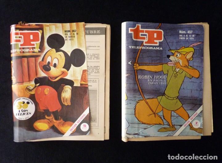 Coleccionismo de Revista Teleprograma: TELEPROGRAMA TP. DISNEY 50 AÑOS FELICES. COLECCIÓN DE TODOS LOS RECORTABLES Y VIÑETAS DISNEY. 1973-7 - Foto 2 - 159940178