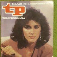 Coleccionismo de Revista Teleprograma: REVISTA TP TELEPROGRAMA NUMERO 1066 AÑO 1986*. Lote 159993866