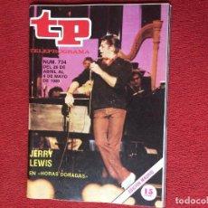 Coleccionismo de Revista Teleprograma: REVISTA TP 734 JERRY LEWIS 1980 TELEPROGRAMA . Lote 160267894