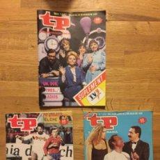 Coleccionismo de Revista Teleprograma: LOTE 3 REVISTAS TP. TELEPROGRAMA - NUMEROS 1042, 1078, 1212. Lote 160418030