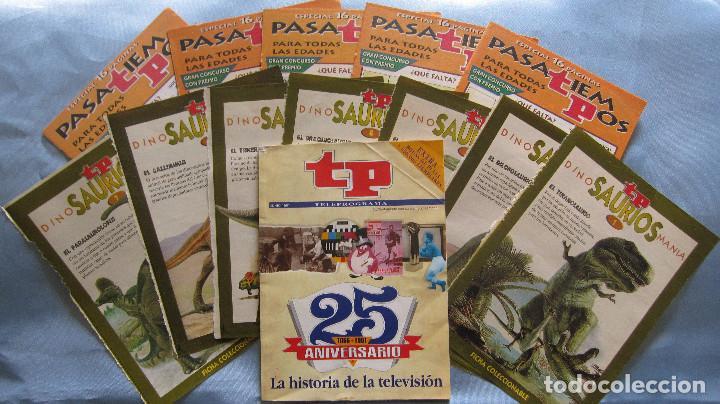 TELEPROGRAMA ESPECIAL 25 ANIVERSARIO + PASATIEMPOS Y FICHAS DINOSAURIOS (Coleccionismo - Revistas y Periódicos Modernos (a partir de 1.940) - Revista TP ( Teleprograma ))