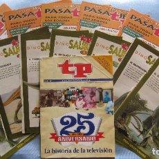 Coleccionismo de Revista Teleprograma: TELEPROGRAMA ESPECIAL 25 ANIVERSARIO + PASATIEMPOS Y FICHAS DINOSAURIOS. Lote 161753058