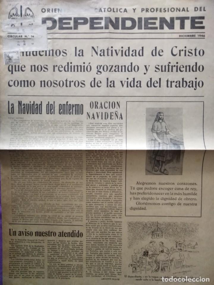 DEPENDIENTE ORIENTACION CATOLICA Y PROFESIONAL DEL DEPENDIENTE DICIEMBRE 1946 (Coleccionismo - Revistas y Periódicos Modernos (a partir de 1.940) - Revista TP ( Teleprograma ))