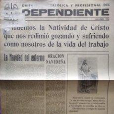 Coleccionismo de Revista Teleprograma: DEPENDIENTE ORIENTACION CATOLICA Y PROFESIONAL DEL DEPENDIENTE DICIEMBRE 1946. Lote 167831204
