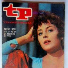 """Coleccionismo de Revista Teleprograma: TELEPROGRAMA 568 DEL 21-27 FEBRERO 1977-MARIA MASSIP """"TERESA CABARRUS """" COMO NUEVO. Lote 171235135"""