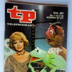 Coleccionismo de Revista Teleprograma: TELEPROGRAMA 607 DEL 21 AL 27 NOVIEMBRE 1977- BARRIO SESAMO -COMO NUEVO. Lote 171238222
