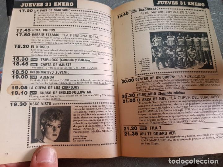 Coleccionismo de Revista Teleprograma: Teleprograma Nº 982 año 1985 - del 28 enero al 3 feb - Portada serie V Invasión de la Tierra escaso - Foto 3 - 171787260