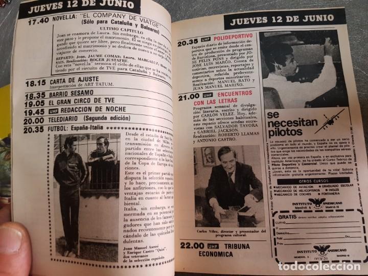 Coleccionismo de Revista Teleprograma: Teleprograma Nº 740 año 1980 - del 9 al 15 de junio - Portada Vacaciones en el Mar - escaso - Foto 3 - 171787429