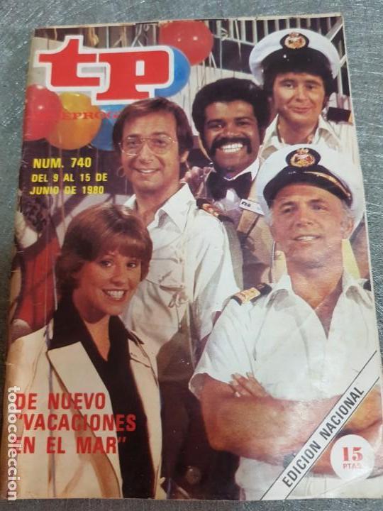 TELEPROGRAMA Nº 740 AÑO 1980 - DEL 9 AL 15 DE JUNIO - PORTADA VACACIONES EN EL MAR - ESCASO (Coleccionismo - Revistas y Periódicos Modernos (a partir de 1.940) - Revista TP ( Teleprograma ))