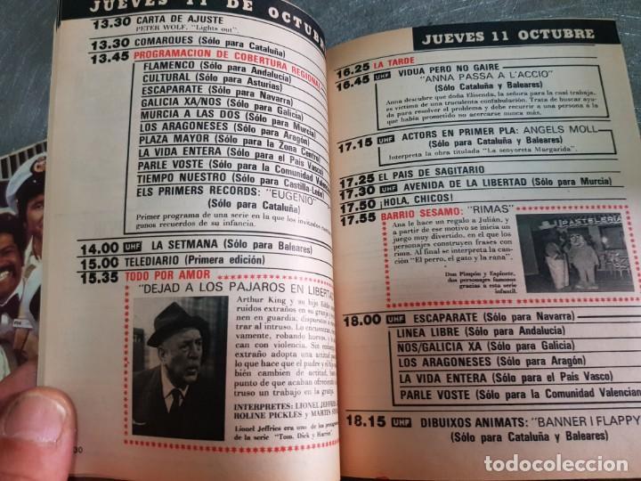 Coleccionismo de Revista Teleprograma: Teleprograma Nº 966 año 1984 - del 8 al 14 de octubre - Portada Tarzan - escaso - Foto 3 - 171787603