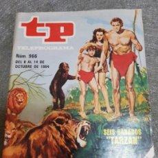 Coleccionismo de Revista Teleprograma: TELEPROGRAMA 966 AÑO 1984 PORTADA TARZAN ESCASO. Lote 171787603