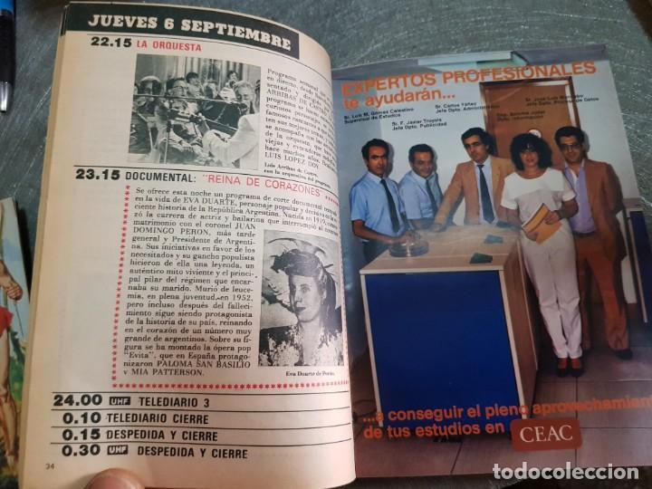 Coleccionismo de Revista Teleprograma: Teleprograma Nº 961 año 1984 - del 3 al 9 de septiembre - Portada Gran Héroe Americano - escaso - Foto 3 - 171787755