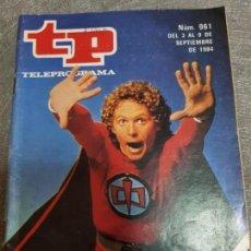 Coleccionismo de Revista Teleprograma: TELEPROGRAMA Nº 961 AÑO 1984 - DEL 3 AL 9 DE SEPTIEMBRE - PORTADA GRAN HÉROE AMERICANO - ESCASO. Lote 171787755