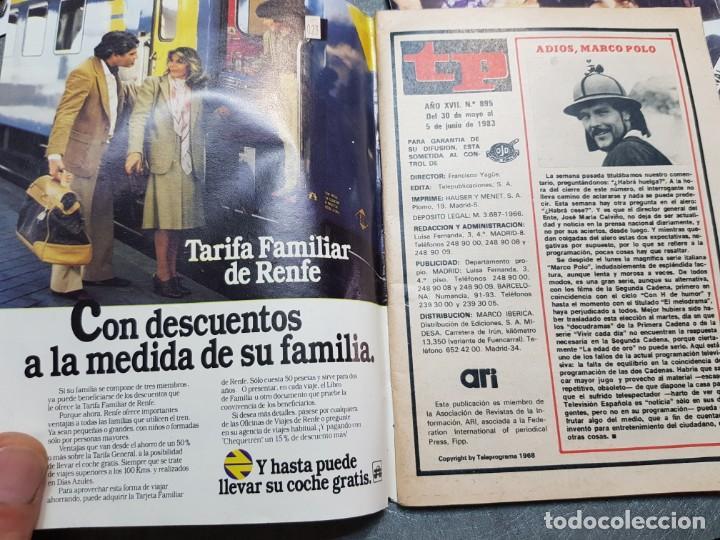 Coleccionismo de Revista Teleprograma: Teleprograma Nº 895 año 1983 - del 30 mayo al 5 junio - Portada azafatas Un ,Dos ,Tres - escaso - Foto 3 - 171795869