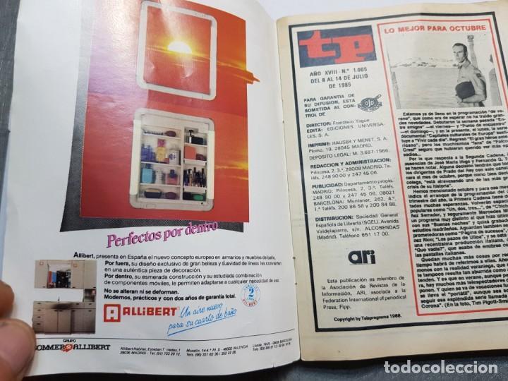 Coleccionismo de Revista Teleprograma: Teleprograma 1005 año 1985 - del 8 al 14 de julio - Portada Gran Heroe Americano - escaso - Foto 3 - 171796263