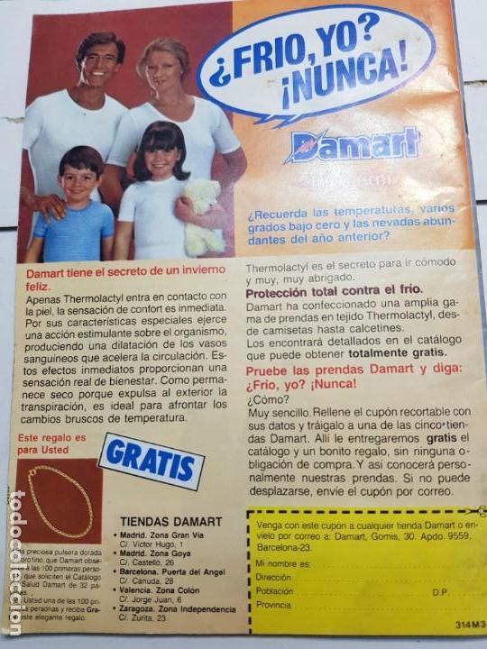 Coleccionismo de Revista Teleprograma: Teleprograma Nº 916 año 1983 - del 24 al 30 de octubre - Portada serie Anillos de Oro - escaso - Foto 2 - 171796499
