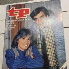 Coleccionismo de Revista Teleprograma: TELEPROGRAMA Nº 916 AÑO 1983 - DEL 24 AL 30 DE OCTUBRE - PORTADA SERIE ANILLOS DE ORO - ESCASO. Lote 171796499
