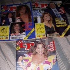 Coleccionismo de Revista Teleprograma: TP NUMEROS 1319, 1320 Y 1322 DEL AÑO 1991 JESUS GIL Y ANA OBREGON.. Lote 172268573