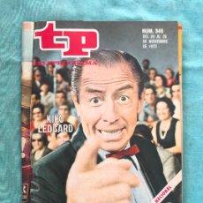 Coleccionismo de Revista Teleprograma: REVISTA TELEPROGRAMA N º 346 ( TP ) - AÑO 1972 - KIKO LEDGARD - UN DOS TRES. Lote 172579988