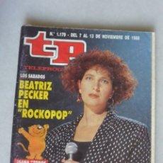 Coleccionismo de Revista Teleprograma: REVISTA TP, Nº 1179 DE 13 NOV 1988 BEATRIZ PECKER. Lote 174150195
