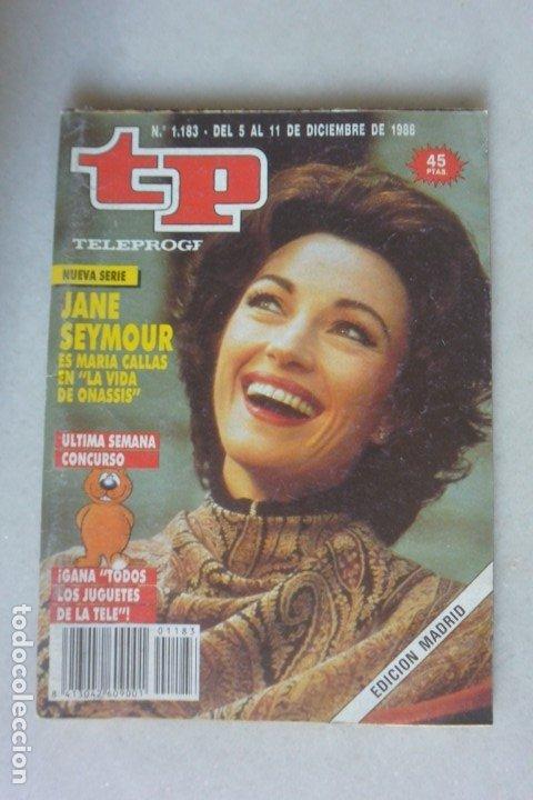 REVISTA TP, Nº 1183 DE 11 DIC 1988 JANE SEYMOUR (Coleccionismo - Revistas y Periódicos Modernos (a partir de 1.940) - Revista TP ( Teleprograma ))