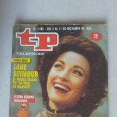 Coleccionismo de Revista Teleprograma: REVISTA TP, Nº 1183 DE 11 DIC 1988 JANE SEYMOUR. Lote 174150342