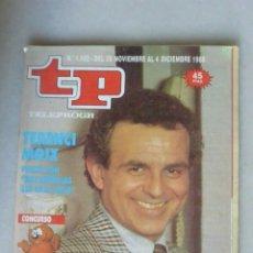 Coleccionismo de Revista Teleprograma: REVISTA TP, Nº 1182 DE 13 NOV 1988 TERENCI MOIX. Lote 174150608