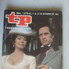 Coleccionismo de Revista Teleprograma: REVISTA TP, Nº 176 DE 23 NOV 1986 NORTE Y SUR. Lote 174150880