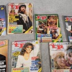 Coleccionismo de Revista Teleprograma: LOTE X 7 REVISTAS TP AÑOS 1991-1992-1993. Lote 177376093
