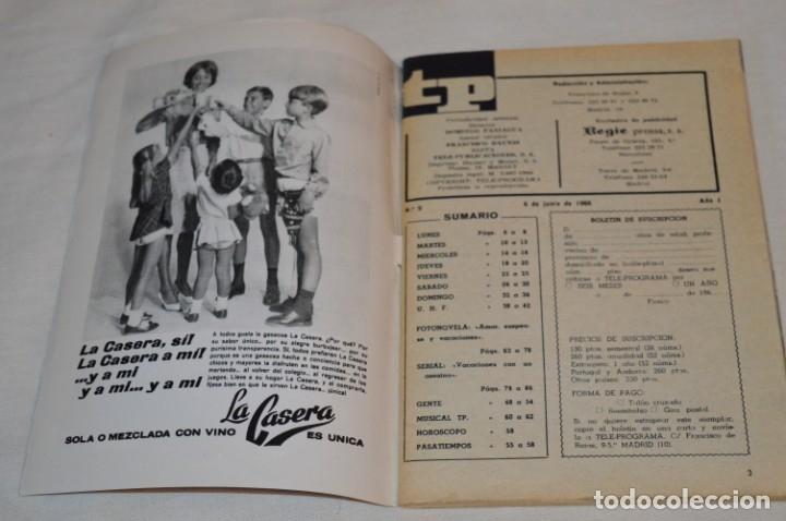 Coleccionismo de Revista Teleprograma: TP TELEPROGRAMA - El Número 9 - Oportunidad, Del 06 al 12 de Junio 1966 - Muy difícil - ¡Mira! - Foto 6 - 177938108