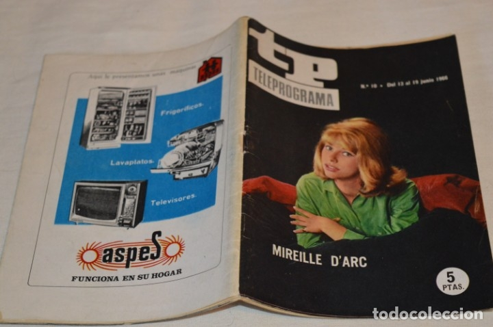 Coleccionismo de Revista Teleprograma: TP TELEPROGRAMA - El Número 10 - Oportunidad, Del 13 al 19 de Junio 1966 - Muy difícil - ¡Mira! - Foto 2 - 177938557