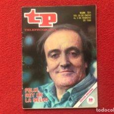 Coleccionismo de Revista Teleprograma: TP 721 FÉLIX RODRÍGUEZ DE LA FUENTE 1980. Lote 178327196