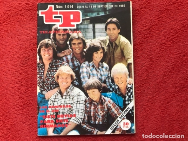 TP 1014 SERIE SIETE NOVIAS PARA SIETE HERMANOS 1985 (Coleccionismo - Revistas y Periódicos Modernos (a partir de 1.940) - Revista TP ( Teleprograma ))