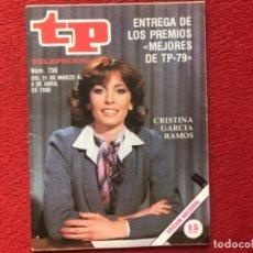 Colecionismo da Revista Teleprograma: TP 730 CRISTINA GARCIA RAMOS 1980. Lote 178335103