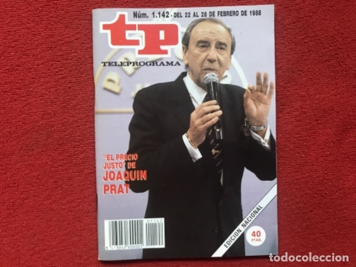 REVISTA TP 1142 JOAQUÍN PRAT 1988 (Coleccionismo - Revistas y Periódicos Modernos (a partir de 1.940) - Revista TP ( Teleprograma ))