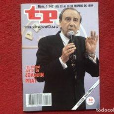 Coleccionismo de Revista Teleprograma: REVISTA TP 1142 JOAQUÍN PRAT 1988. Lote 178793410