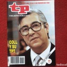 Colecionismo da Revista Teleprograma: REVISTA TP 1141 JOSE LUIS COLL 1988. Lote 178793500