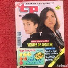 Coleccionismo de Revista Teleprograma: REVISTA TP 1335 1991. Lote 178946475