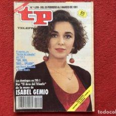 Coleccionismo de Revista Teleprograma: REVISTA TP 1299 ISABEL GEMIO 1991. Lote 179517377