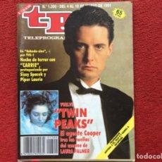 Coleccionismo de Revista Teleprograma: REVISTA TP 1300 TWIN PEAKS DAVID LYNCH LAURA PALMER 1991. Lote 179517715