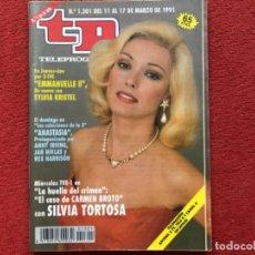 Coleccionismo de Revista Teleprograma: REVISTA TP 1301 SILVIA TORTOSA LA HUELLA DEL CRIMEN 1991. Lote 179517775