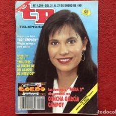 Coleccionismo de Revista Teleprograma: REVISTA TP 1294 CONCHA GARCÍA CAMPOY 1991. Lote 179517988