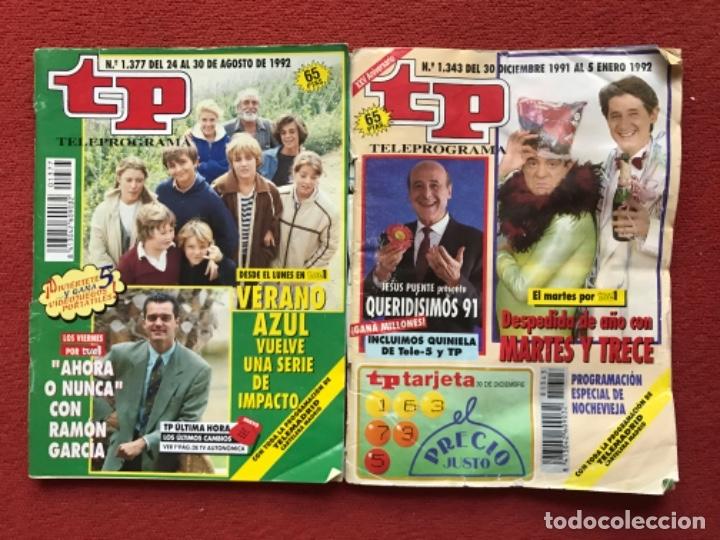 Coleccionismo de Revista Teleprograma: Lote 50 revistas Tp año 1992 teleprograma - Foto 7 - 179519661